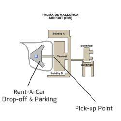Palma de Mallorca Airport Drop-off Point Plan for Rent-A-Car